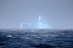 The Shark's Fin (Harry Colquhoun) Tags: iceberg antarctic ocean sea waves stormywater dramatic blue glowing