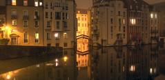 Metz by the canal (Fabien Husslein) Tags: metz moselle lorraine france port saint marcel nuit night city ville eau water reflet reflection long exposure pose longe