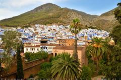 Kasbah with blue houses background (T Ξ Ξ J Ξ) Tags: morocco chefchaouen sefasawan d750 nikkor teeje nikon2470mmf28 blue city kasbah