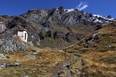 Val d'Aosta - Valsavarenche: vallone di Levionaz, la cappellina a Levionaz Dessous (mariagraziaschiapparelli) Tags: valdaosta valsavarenche levionaz montagna mountain parconazionaledelgranparadiso pngp allegrisinasceosidiventa escursionismo camminata eauxrousses