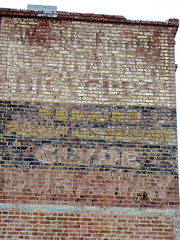 Clyde Dunaway, Augusta, GA (Robby Virus) Tags: augusta georgia clyde dunaway bicycles bicycle repair shop business ghost sign painted wall brick ad advertisement pickup delivery worlds finest faded forgotten signage
