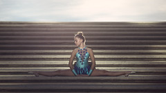 (dimitryroulland) Tags: nikon d600 85mm 18 dimitry roulland dance dancer gym gymnast gymnastics stairs natural light montpellier urban street city split flexible people flexibility