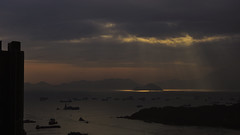 sunset at Rambler Channel (Jukai Fujiki) Tags: sony a6000 ilce6000 vivitar 55mm f28 water winter weather waterscapre wildlife reflection yellow sky rays day outdoor sunlight sun sunset dusk building orange outside hongkong colors country mountain peaceful art nature landscape national naturaleza schatten shadow sea seascape dark grey gold gloomy hills harmony light leisure licht life lonesome cinematic cloudsstormssunsetssunrises cloud cloudy vivid blue black night