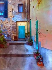 a typical view of a medieval corner in Capoliveri,  Elba (jjamv) Tags: jjamv julesvtravel elba tuscany toscana capoliveri isola livorno toscano tuscanarchipelago architecture outdoor texture textured colours