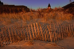 Fence (LMortgages158) Tags: morning beach light coast ocean shore dawn nj jersey grove wbeckett3 jerseyshore oceangrove