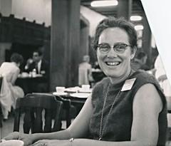 Mary Ellen Rudin at Joint Mathematics Meeting at Cornell University, Ithaca, NY 1965 (ali eminov) Tags: mathematicians topologists conferences women ithaca newyork maryellen
