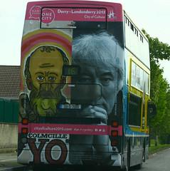 Dublin Bus (rosewoodoil) Tags: ireland dublin bus buses canon graphics famous transport font famouspeople drivebyshooting dublinbus seamusheaney photographedublin
