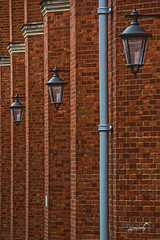 Brick wall with lights (Sharon Dow Photography) Tags: uk school england building wall lights sussex nikon westsussex britain bricks drainpipe horsham ch boardingschool 16thcentury bluecoats housey publicschool christshospitalschool nikond7100 sharondowphotography photoshopcc christshospital britishindependentschool