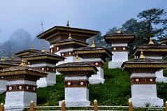 The 108 Druk Wangyal Khangzang Chhortens (@mons.always) Tags: travel nikon asia bhutan thimpu 108 stupas d90 dochula 18105mm 108drukwangyalkhangzangchhortens