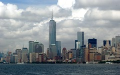 Downtown Manhattan (MJ_100) Tags: city nyc usa newyork building tower skyline america skyscraper buildings harbor us downtown state harbour manhattan worldtradecenter lowermanhattan freedomtower oneworldtradecenter