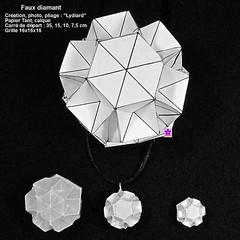 fauxdiam (LydiaDiard paperfolledingue) Tags: art geometric paper 3d origami hexagon papier paperfolding volume volum tant lydiard géométrique pliage hexagone pliagedepapier lydiadiard paperfolledingue