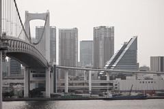 Midway (Ayrcan) Tags: city bridge urban japan island tokyo rainbow asia capital metropolis odaiba honshu