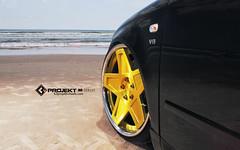 K3 Projekt Wheels IND Series Model: 5SG   Audi S4 Wagon Bagged in Daytona Beach FL (K3 Projekt) Tags: cars love beach wagon video cool sand pics awesome cine series dope daytona forged slammed ind bagged airride illest 3piece blackcars swagon canibeat k3projektwheels