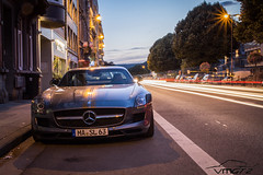 Gullwing. (Vmgt2 Automotive Photography) Tags: night canon eos belgium 63 mercedesbenz spa sls amg spafrancorchamps 2013 1100d vmgt2