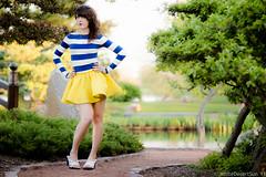 Osaka Gardens Fashion Shoot with Sirene (WhiteDesertSun) Tags: road blue fashion yellow gardens japanese shoot stripes skirt osaka winding nina sirene 2013 gabumon catalystsirene