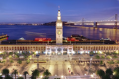 SF Ferry Building From Above (cstout21) Tags: sanfrancisco california ca travel chris usa night boats us colorful unitedstates landmark historic clear palmtrees pacificocean baybridge bayarea ferrybuilding hdr highdynamicrange stout ngoc pcccar canon60d stoutandstout