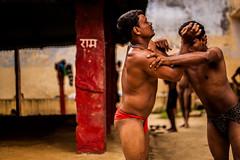 Kushti (Ray Frames) Tags: india color wrestling varanasi wrestler hindu hinduism ghats banaras benares benaras kedarghat travelphotography akhara indiapictures kushti akhada akara indiaimages kusti varanasiindia assighat varanasighats tulsighat amitray dashashwamedhghat indianwrestler traditionalwrestling rayframes