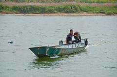 North Korean fisherman (lucien_photography) Tags: china city water boat fisherman nikon border bateau northkorea dprk dandong d7000 nikond7000