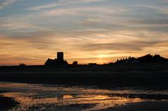 Pakefield sunset from the beach (Kirkleyjohn) Tags: sunset sun beach silhouette atardecer evening suffolk sonnenuntergang pôrdosol contrejour eveninglight coucherdusoleil pakefield pakefieldchurch