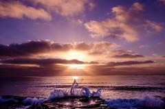 Pacific Beach-7-8 (ranveerj) Tags: sunset sea beach birds evening kayak waves sandiego bubbles lajolla pacificbeach lajollacove