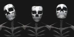 Skeleton (alyssastephanie) Tags: white black halloween skeleton skull paint alyssa body human stephanie how