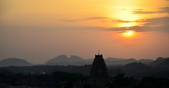 Sunset in Hampi (a.Muller) Tags: old trip travel light sunset vacation sky sun india color beautiful architecture night clouds landscape geotagged temple photography photo nikon ruins asia view photos monuments hindu hinduism archeology hampi gopura