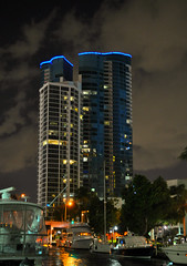 Fort Lauderdale at Night (Luv Duck - Thanks for 15M Views!) Tags: nightphotography building boats fortlauderdale southflorida downtownfortlauderdale