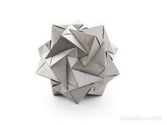 20 INTERSECTING CUBES (ronatka) Tags: silver gray modularorigami kusudama