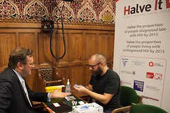 "Stephen Mosley MP has HIV test to promote Halve It Campaign • <a style=""font-size:0.8em;"" href=""http://www.flickr.com/photos/51035458@N07/11099132936/"" target=""_blank"">View on Flickr</a>"