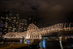 Webb Bridge, Melbourne (Venkateshhh) Tags: wedding sea sky love beach night buildings hugging lowlight nikon kissing couple southyarra kitlens australia melbourne tcs flinders 18105 18105mm d7100 greatvedas