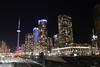 Apartment buildings near CN Tower (Canadian Pacific) Tags: city urban toronto ontario canada night photo downtown track cntower shot tracks railway canadian aimg0660