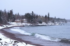 Lake Superior shoreline Grand Marais, MN (turn off your computer and go outside) Tags: thanksgiving winter lake snow minnesota day north superior grand shore marais mn