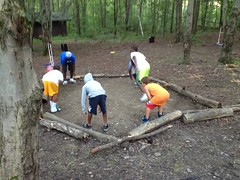 Home made Gaga Pit at the Spruce Run Outpost