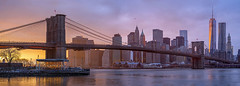 Brooklyn Bridge and One World Trade Center at Sunset, Manhattan Skyline, New York. (pedro lastra) Tags: sony a7r leica 3570mm f4 manhattan new york city usa leica3570mmf4r