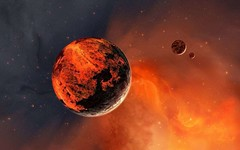 Destoried-Planet (GurshobitBrar) Tags: blue red galaxy planets newworlds