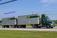 ABF Freight Freightliner Cascadia (Trucks, Buses, & Trains by granitefan713) Tags: twins pups doubles abf tractortrailer freightliner ltl trucktractor freightlinertruck freightlinercascadia ca113 lessthantruckload doubletrailers abffreight
