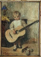 Eugenio Prati Piccolo Chitarrista 1891 olio 24,5 x 17 cm