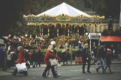 Christmas shoppers (Chris Milne Photography) Tags: christmas people scotland edinburgh market princesstreet carousel tourists shoppers tartan