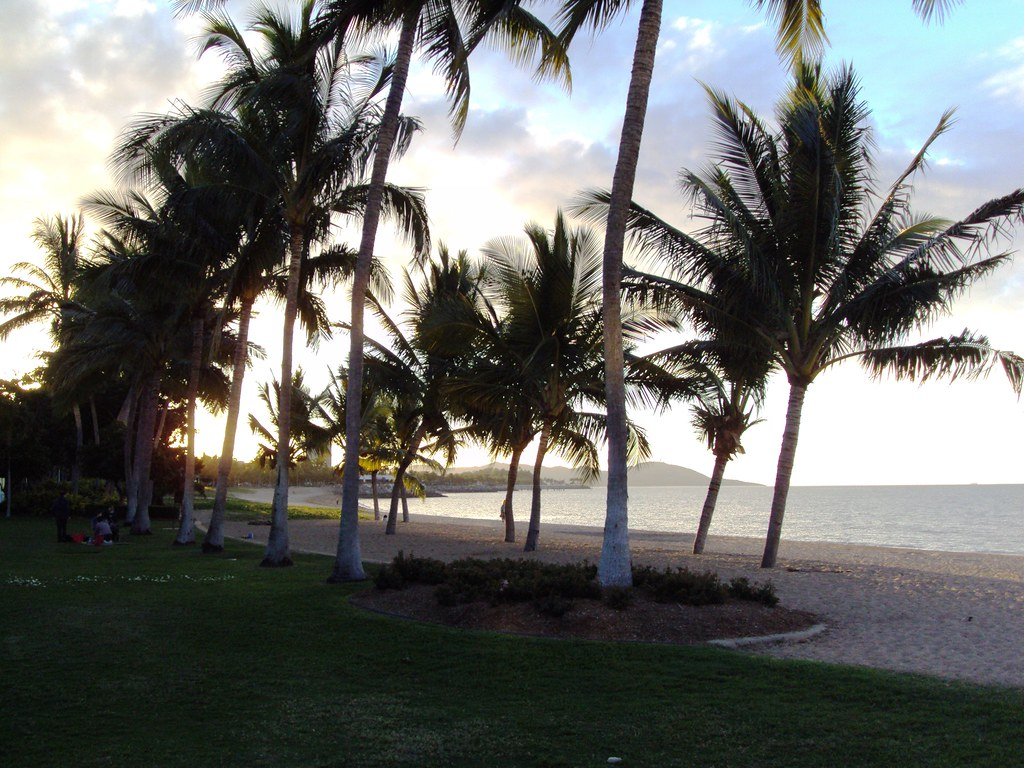 Sunset on the Strand or Esplanade in Townsville.