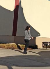 Smoking Girl Walks Away (Scott Shots) Tags: girls candid streetphotography smoking leopardprint leggings streetfashion animalprint candidwomen streetstyle girlssmoking womensmoking smokinggirls