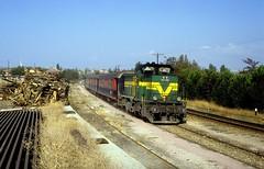 DE 11 082  Nursat  05.09.94 (w. + h. brutzer) Tags: analog train turkey nikon eisenbahn railway zug trains trkei lokomotive diesellok eisenbahnen tcdd de11 nursat dieselloks webru