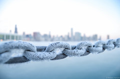 Frozen chains (kyp1975) Tags: winter lake chicago ice nature skyline real frozen chains lakemichigan icy freezer powerful frozenlake  chicagodowntown coldwinter     polarvortex