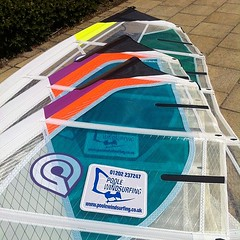 Latest windsurfing equipment at the Poole Windsurfing School