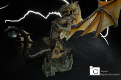 Dragon de Trueno (rickytokes) Tags: light animal painting dragon fantasy rayo miniatura juguete trueno escala