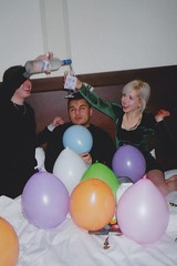 holding down the fort (BRE@NNE) Tags: birthday money balloons grey hotel james emily winnipeg fort andrew goose yashica garry