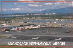 ANC17 (By Air, Land and Sea) Tags: japan alaska airplane airport aircraft postcard terminal international anchorage airline boeing jl anc 747 b747 anchorageinternationalairport airlnes