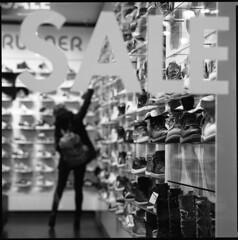 Bakkerstraat, Utrecht (Pim Geerts) Tags: street 6x6 film window shop analog photography shoes utrecht dof kodak bokeh sale web front etalage sneakers bronica winkel sales runner glas 001 schoenen sqa soldes ruit bakkerstraat analoog etrs tx400 uitverkoop straatfotografie