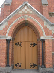 The Main Entrance to Scots Presbyterian Church  Lydiard Street, Ballarat (raaen99) Tags: door city roof building church window stone architecture religious bricks religion gothic 19thcentury victorian entrance australia victoria spire victoriana historical 1890 ballarat goldrush redbrick banding nineteenthcentury tracery stainedglasswindows gothicarchitecture placeofworship gothicchurch rooftiles countryvictoria gothicbuilding presbyterianchurch scotschurch vesicapiscis religiousbuilding goldrushera brickandstone provincialvictoria lydiardstreet scotspresbyterianchurch soldiershill stonetracery lydiardst architecturallydesigned ballaratpresbyterianchurch figgisandmolloy figgismolloy ballaratscotschurch