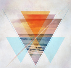 project3_2014 (Rey RR) Tags: blue sunset orange triangles digital photoshop bench triangle cs3