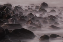 Pebbles on a beach (Julian Pett) Tags: sea beach water rocks long exposure waves pebbles porlock mygearandme mygearandmepremium mygearandmebronze mygearandmesilver mygearandmegold mygearandmeplatinum mygearandmediamond